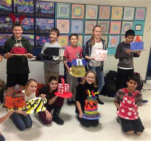Gr. 6 Art Students