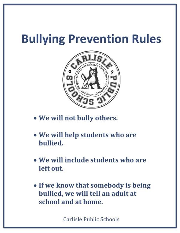 Bullying Prevention Rules